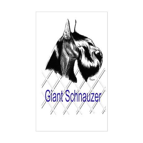 giant schnauzer head study Rectangle Sticker