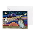 XmasStar/Pomeranian (SW) Greeting Card