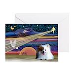 XmasStar/Pomeranian (RW) Greeting Card
