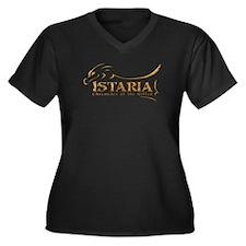 Istaria Logo Women's Plus Size V-Neck Dark T-Shirt
