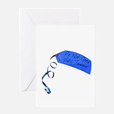 Do Not Open (Jan - Blue) Greeting Card