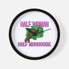 Half Woman Half Mongoose Wall Clock