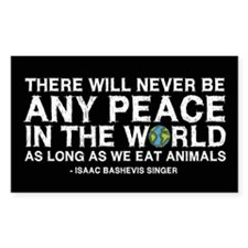 Never Be Peace - Rough Text Rectangle Decal