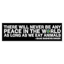 Never Be Peace - Rough Text Bumper Bumper Sticker