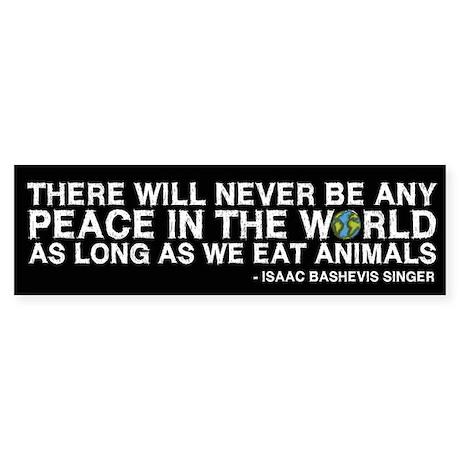 Never Be Peace - Rough Text Bumper Sticker