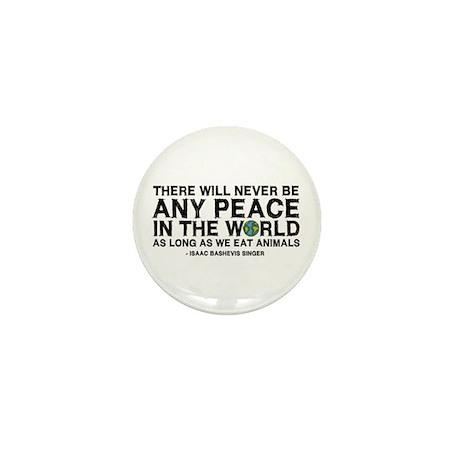 Never Be Peace - Rough Text Mini Button