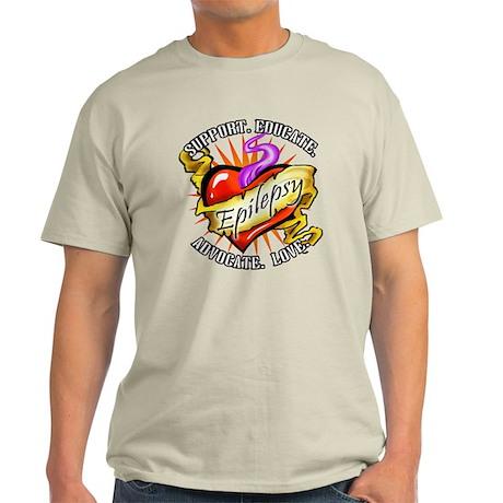 Epilepsy Tattoo Heart Light T-Shirt