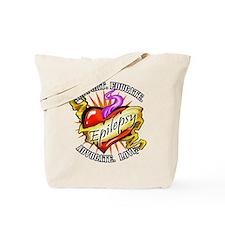 Epilepsy Tattoo Heart Tote Bag