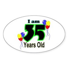 35th Birthday Oval Decal