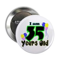 """35th Birthday 2.25"""" Button (10 pack)"""