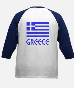 Greece / Hellas Flag of Greece Kids Baseball Jerse