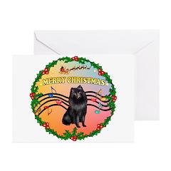 XmasMusic2/Schipperke Greeting Cards (Pk of 20)