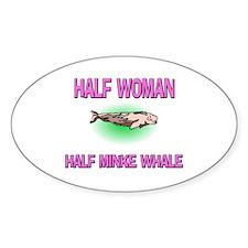 Half Woman Half Minke Whale Oval Decal