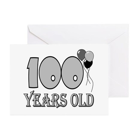 100th Birthday GRY Greeting Cards (Pk of 10)