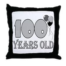 100th Birthday GRY Throw Pillow