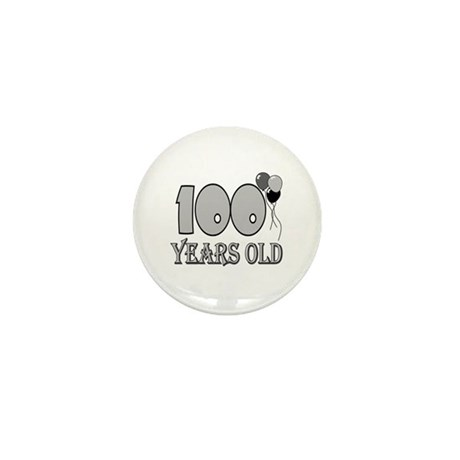 100th Birthday GRY Mini Button (10 pack)