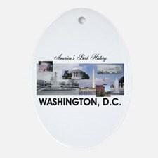 Washington Americasbesthistory.com Oval Ornament