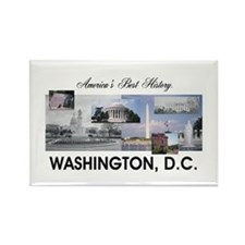 Washington Americasbesthistory.co Rectangle Magnet