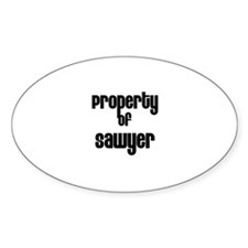 Property of Sawyer Oval Decal