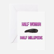 Half Woman Half Millipede Greeting Cards (Pk of 10