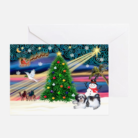 XmasMagic/Shih Tzu (11) Greeting Card