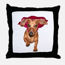 Super Dog Doxies Throw Pillow