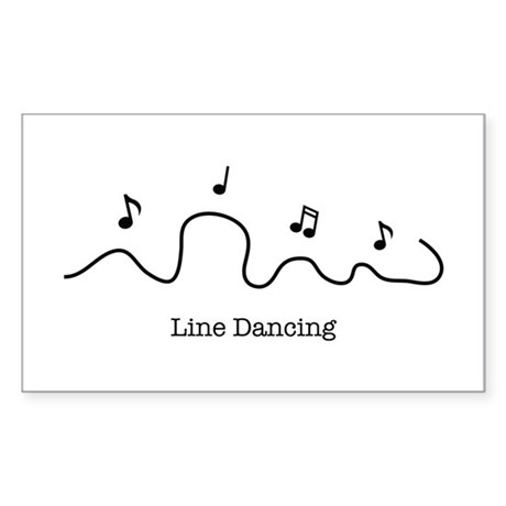 """Line Dancing"" Rectangle Sticker"