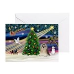 XmasMagic/Shih Tzu (10) Greeting Card