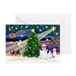 XmasMagic/Shih Tzu (#1) Greeting Card