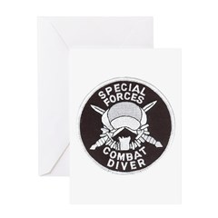 Specfor Frogman Greeting Card