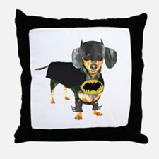 Batdog Throw Pillow