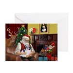 Santa's Shih Tzu (#1) Greeting Cards (Pk of 10)