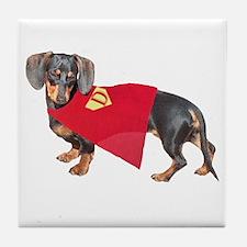 Super Dachshund Dog Tile Coaster