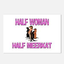 Half Woman Half Meerkat Postcards (Package of 8)