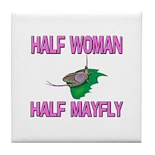 Half Woman Half Mayfly Tile Coaster