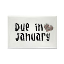January Rectangle Magnet