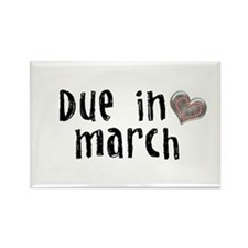 March Rectangle Magnet