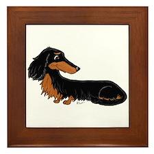 Black Tan Dachshund Framed Tile