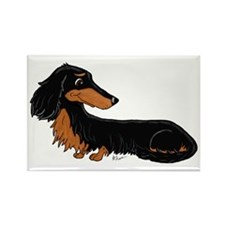 Black Tan Dachshund Rectangle Magnet