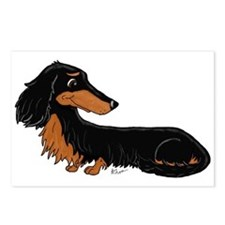 Black Tan Dachshund Postcards (Package of 8)