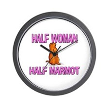 Half Woman Half Marmot Wall Clock