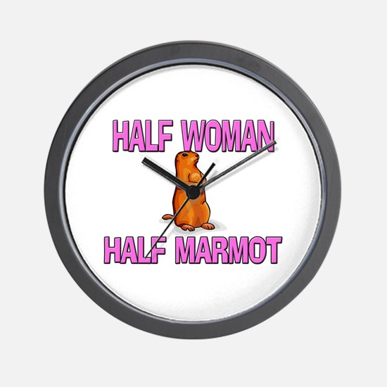 Half Woman Half Marmot Wall Clock