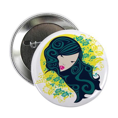 "Geisha Flowers 2.25"" Button (100 pack)"