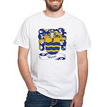 Basset Family Crest White T-Shirt