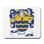 Basset Family Crest Mousepad