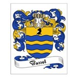 Basset Family Crest Small Poster