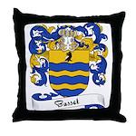 Basset Family Crest Throw Pillow