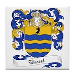 Basset Family Crest Tile Coaster