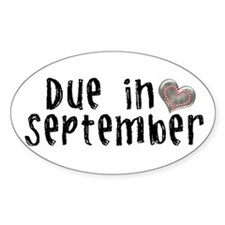 September Oval Decal