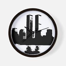 Twin Towers Wall Clock